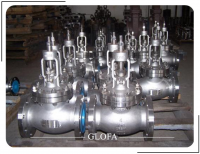 BS1873 A216 WCB FLANGED CAST STEEL BOLTED BONNET GLOBE VALVE