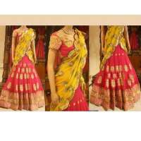 Embroidered Lehenga Saree Manufacturers