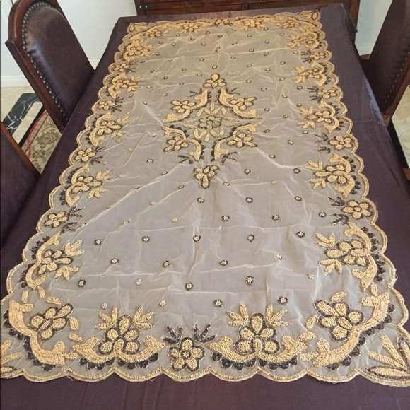 手工珠桌布 制造商