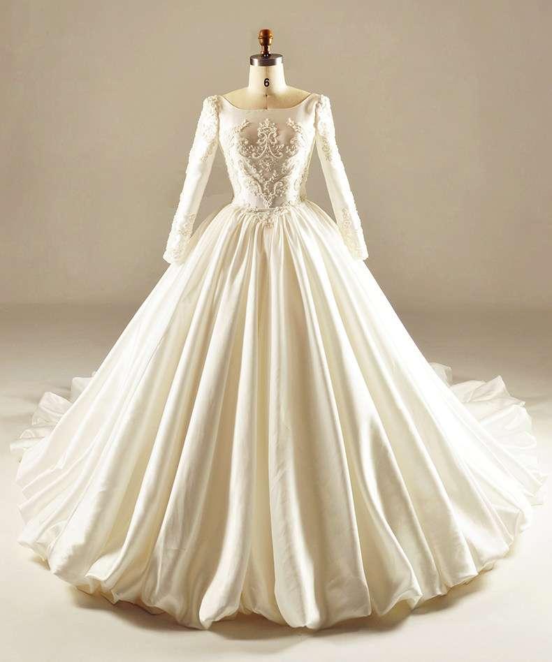 Satin Bridal Wedding Dress Manufacturers