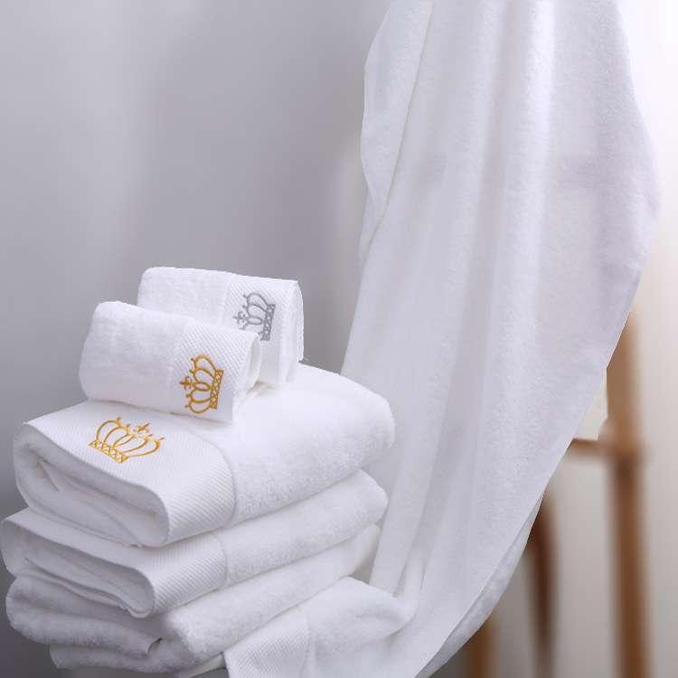 缎纹绣花浴巾 制造商