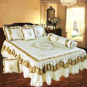 缎面刺绣床罩 制造商