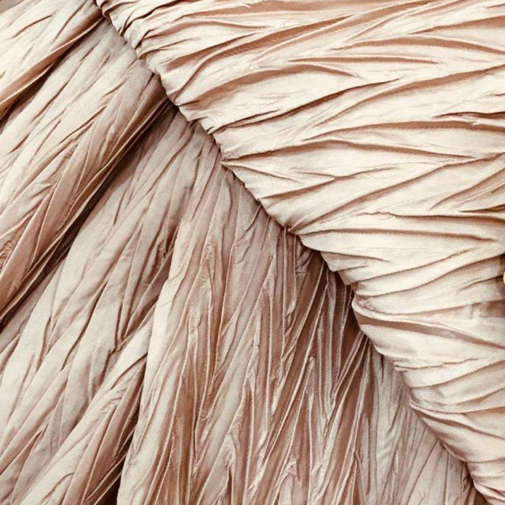 Satin Fabric Pleated Manufacturers