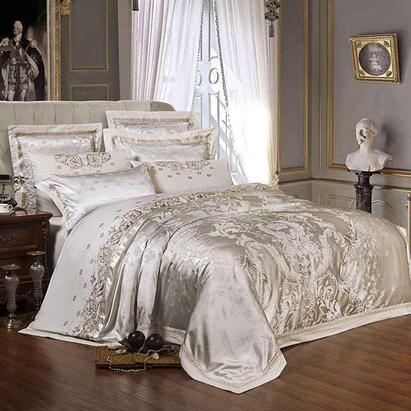 缎面提花床罩 制造商