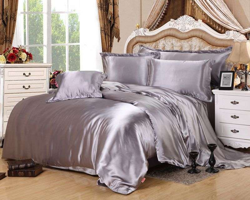 缎面纯棉床上用品套装 制造商