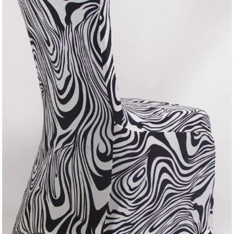 绸缎印花椅子套 制造商
