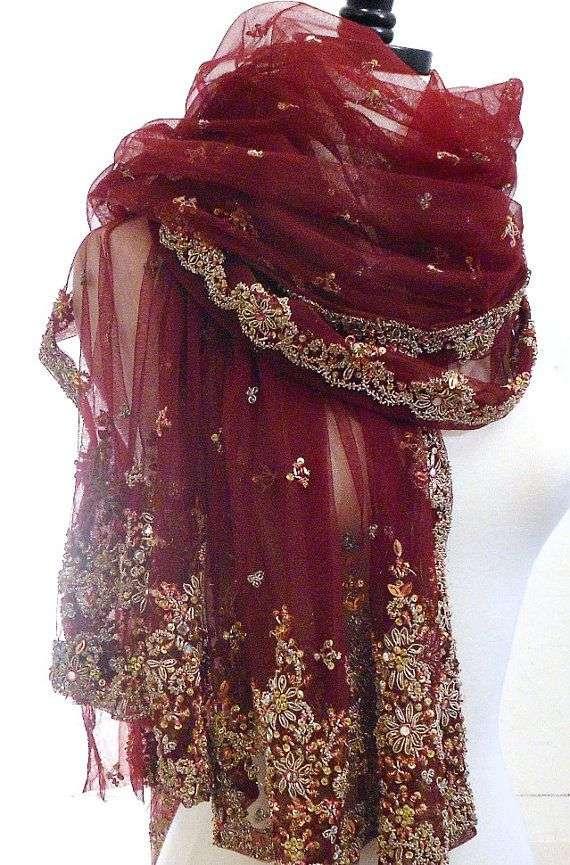 真丝串珠围巾 制造商