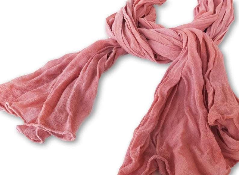 真丝褶皱围巾 制造商