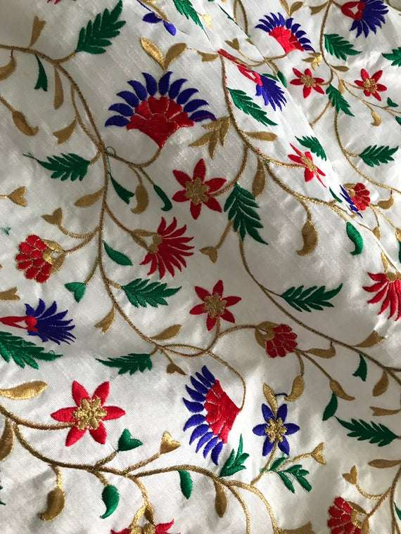 Silk Embroidered Fabric Manufacturers