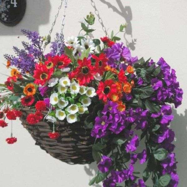 Silk Flower Hanging Basket Manufacturers