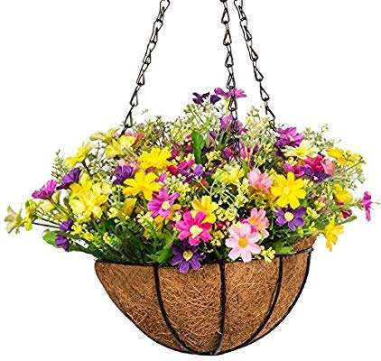 Silk Flowering Hanging Basket Manufacturers