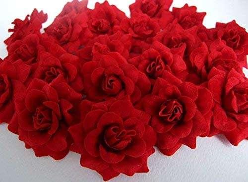 Silk Red Rose Head Manufacturers