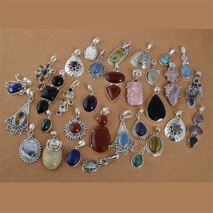 Silver Gemstone Pendant Lot Manufacturers