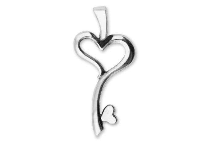 Silver Heart Key Charm Manufacturers