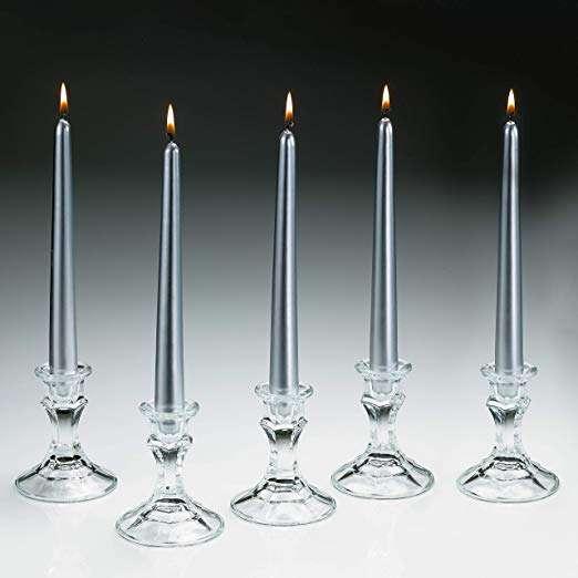 银色锥形蜡烛 制造商
