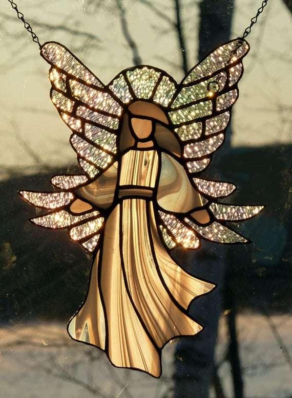 彩色玻璃天使 制造商