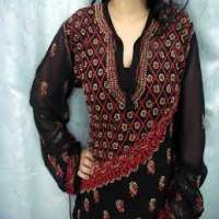 Chikan Embroidered Tops Manufacturers