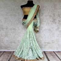 Net Embroidery Sarees Manufacturers