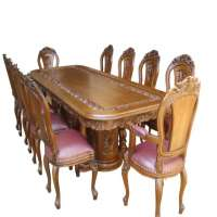 被雕刻的木餐桌 制造商