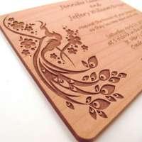 木制婚礼卡 制造商