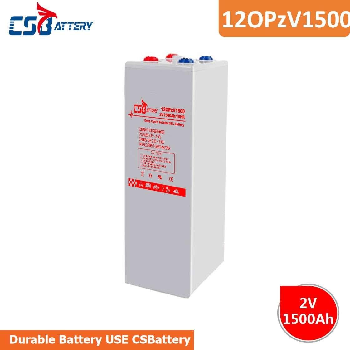 CSBattery 2V1500Ah后备能量深循环电池,用于高尔夫球车/电信/铁路/电动踏板车/助力泵