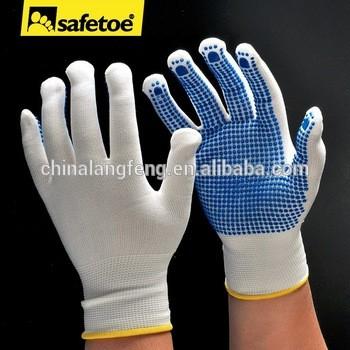 棉工作手套橡胶抓点PVC点状手套PVC点状棉手套