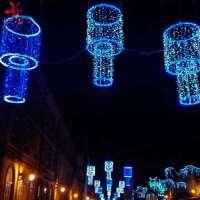 圣诞假期街杆灯带主题灯