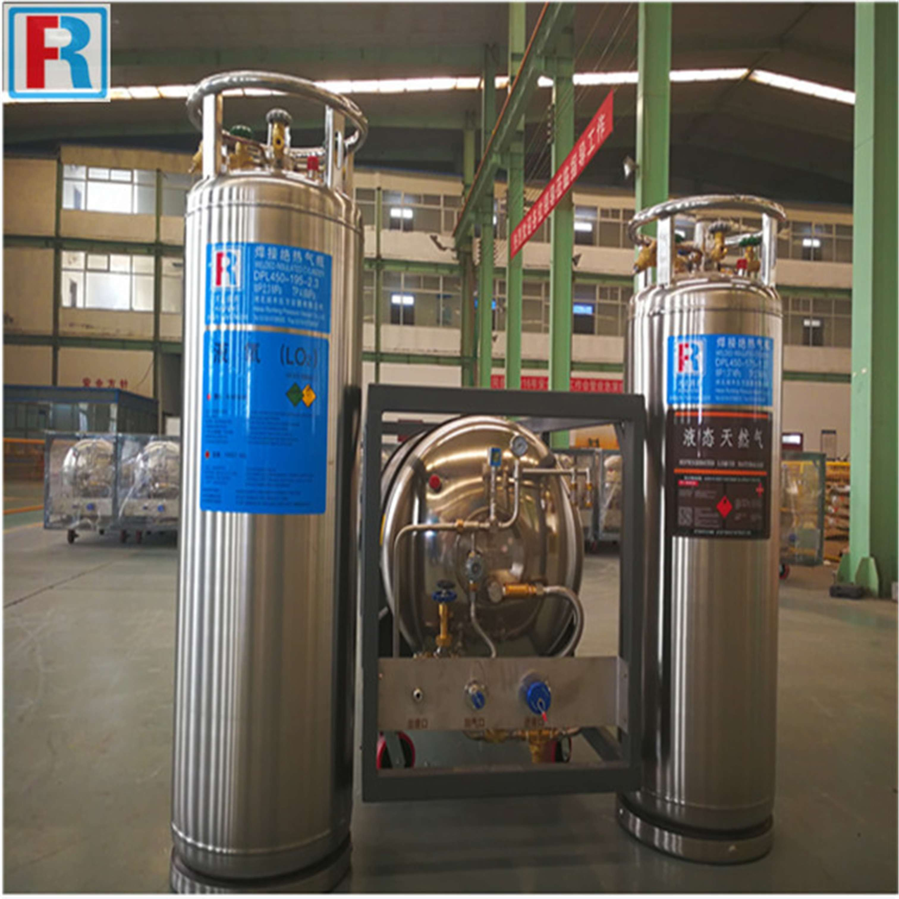 Cryogenic welded insulated liquid gas cylinders 175L 195L 210L 410L 499L