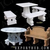 花园大理石长凳花园石桌石凳