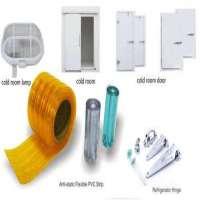 中国工业冷藏室配件供应商包括铰链门闩pvc窗帘,锁,减压阀,空气幕,LED灯,PVC带窗帘
