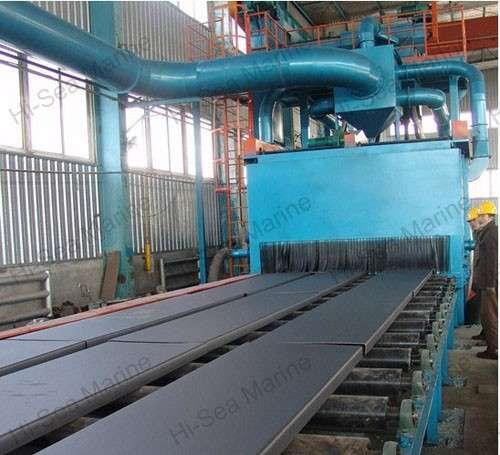 High quality steel sand blasting machine