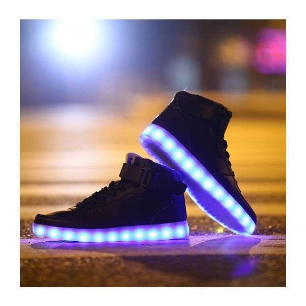 LED鞋带领鞋LED橡胶鞋底LED闪烁跑鞋