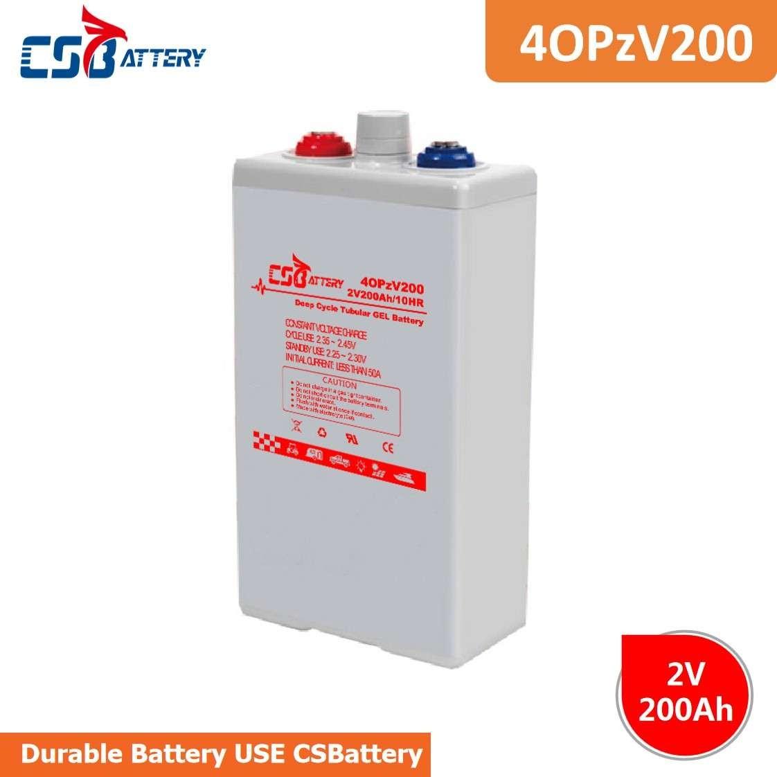 CSBattery 2V200Ah长周期可充电太阳能电池,用于医疗/扫地机/逆变器/电动工具/草坪和灌溉系统