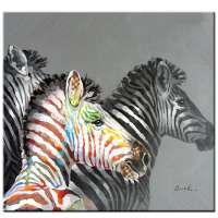 Mintura原创手绘马动物油画画布现代抽象墙图片流行艺术海报装饰