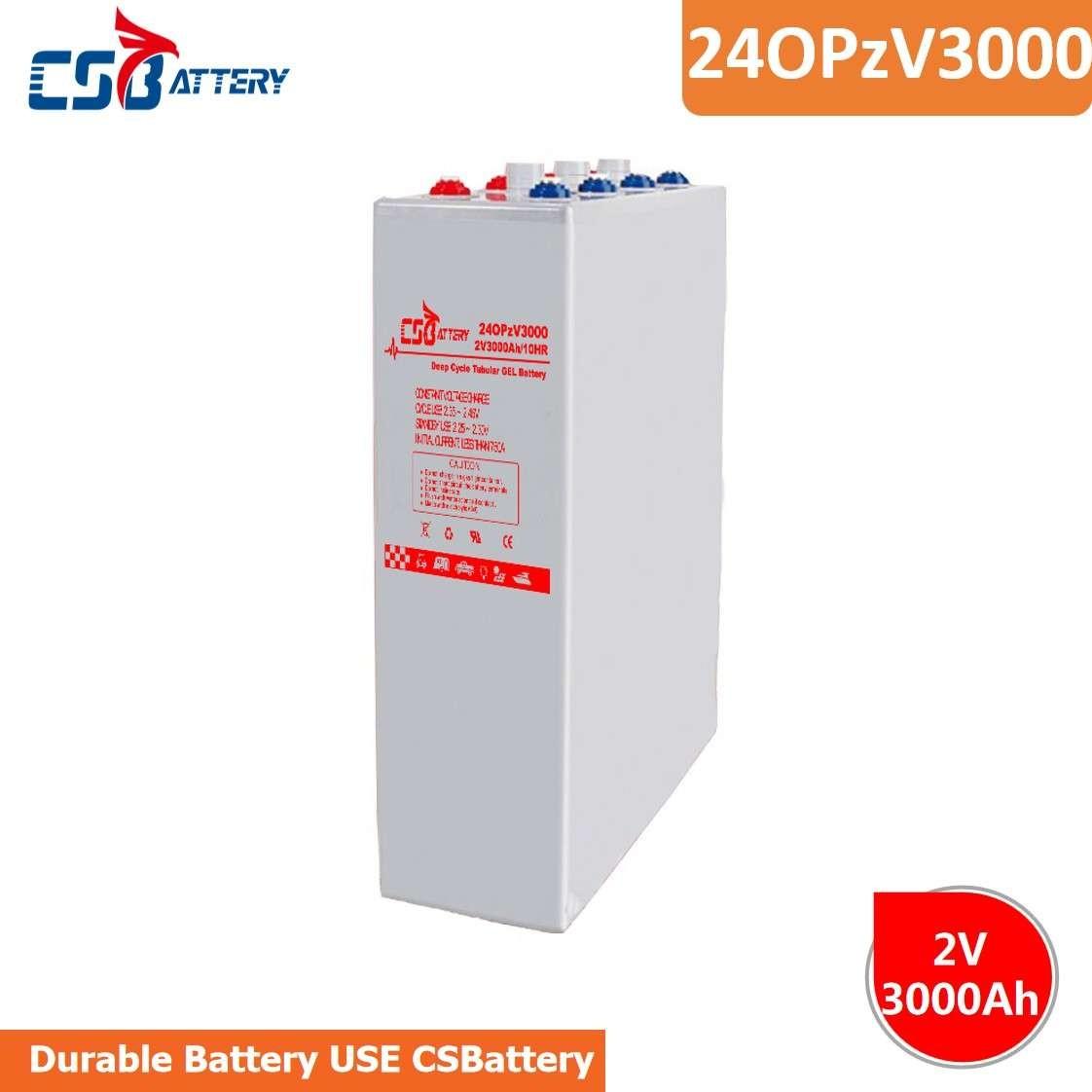 CSBattery 2V3000Ah畅销的20多年工作电池,用于电动加热器/机器/电动工具/草坪和灌溉系统