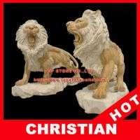 狮子雕塑狮子大理石象