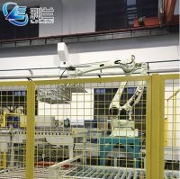 Automatic industrial palletizing robot cartons of milk bottles cartons