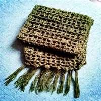 手钩编围巾