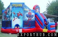 充气保镖蜘蛛侠弹跳房子充气跳线