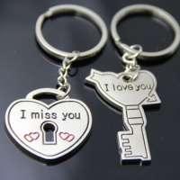 钥匙和心脏钥匙扣金属钥匙扣钥匙扣钥匙和心脏