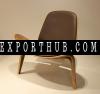复刻汉斯韦格贝壳椅木椅胶合板休闲休闲椅