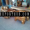 Teak wood furniture sets hand carving