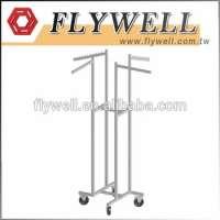 金属挂衣架展示架固定装置