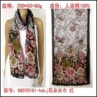 棉印花围巾