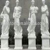 白色四季大理石雕像