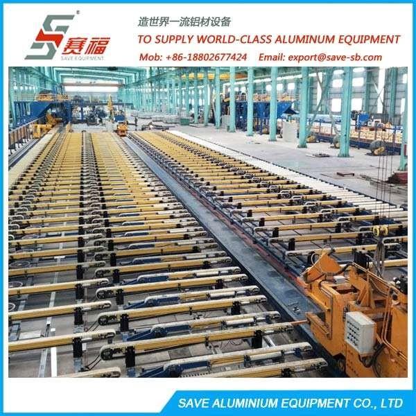 铝挤压型材处理台和冷却区