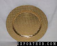金圆形塑料充电板