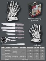 stainless steel knife set block