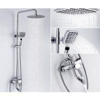 Bathroom Shower Faucet Mixer Head SUS304 Rain Thermostatic alitilecom Lola stainless steel