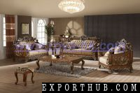 ES001手工雕刻古典古董沙发